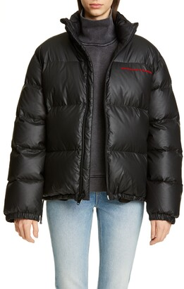 Alexander Wang Chynatown Faux Leather Down Puffer Coat