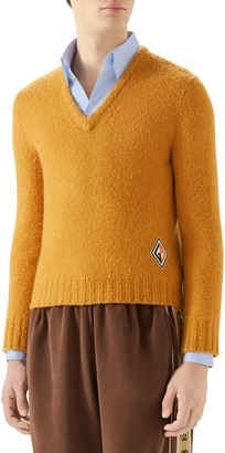 Gucci V-Neck Wool Sweater