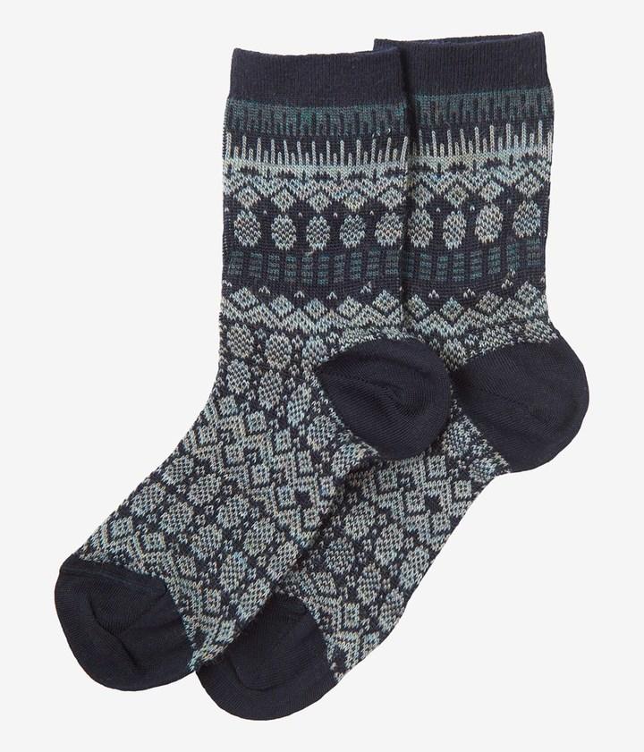 Toast Fine Fair Isle Socks