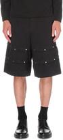 Comme des Garcons Studded jacquard houndstooth shorts