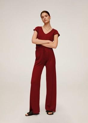 MANGO Straight cotton pants red - XS - Women