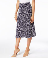 JM Collection Petite Geo-Print Jacquard A-Line Skirt, Only at Macy's