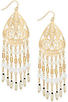 INC International Concepts Gold-Tone Beaded Filigree Drop Earrings, Only at Macy's