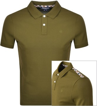 Aquascutum London Hill Polo T Shirt Green