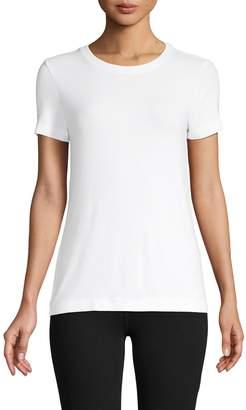 Three Dots Ribbed Short-Sleeve T-Shirt