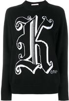 Christopher Kane logo intarsia jumper - women - Virgin Wool - S