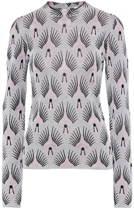 Paco Rabanne Crystal-embellished Metallic Jacquard-knit Top