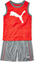 Puma 2-Pc. Graphic-Print Tank Top and Shorts Set, Little Boys (4-7)