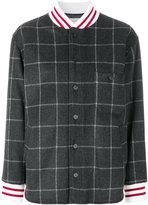 MAISON KITSUNÉ windowpane print bomber jacket