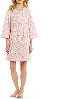 Miss Elaine Quilted Floral Scroll Zip Robe