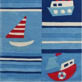 Bright Kids Boats on the Sea Kids Rug, Small