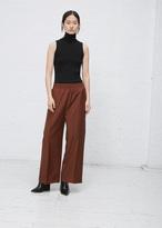 Jil Sander medium rust dalton wide leg trouser