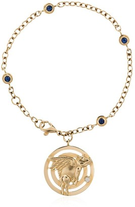 Retrouvaí 14K yellow gold blue sapphire bracelet