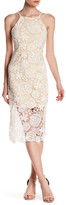 Romeo & Juliet Couture Woven Open Back Floral Lace Midi Dress