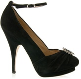GIUSEPPE ZANOTTI DESIGN - Suede jewel court shoe