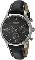 Fortis Men's 904.21.11 L Tycoon Chronograph p.m. Analog Display Automatic Self Wind Black Watch