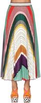 Missoni Pleated Lurex Knit Midi Skirt