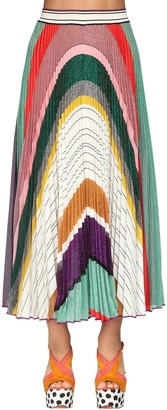 Missoni Pleated Lurex Knit Midi Skirt