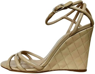 Chanel Beige Patent leather Sandals