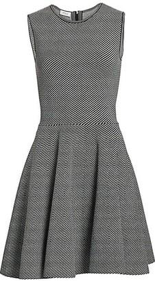 Akris Punto Geo Knit Fit-&-Flare Dress