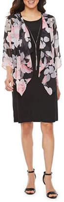 R & K Originals 3/Sleeve Floral Faux Jacket Dress