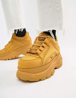 Buffalo David Bitton Classic chunky sole sneakers in wheat-Tan
