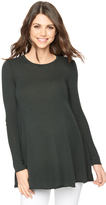 A Pea in the Pod Autumn Cashmere Side Slit Maternity Sweater Tunic