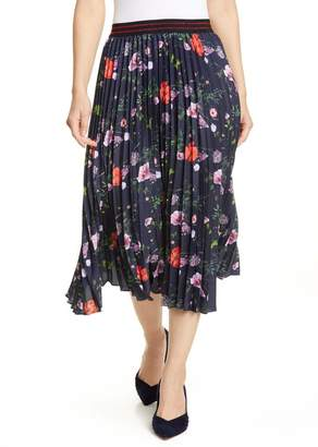 Ted Baker Hedgerow Pleated Floral Skirt