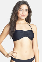 RVCA Serpento Quilted Bandeau Bikini Top (Juniors)