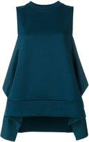 Marni high collar tank top - women - Cotton/Polyamide - 40
