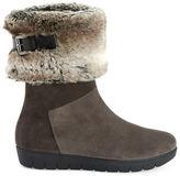 Aquatalia Willow Suede Faux Fur Boots