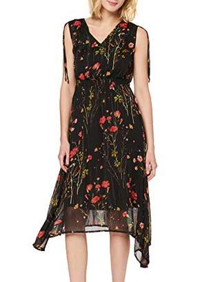 Yumi Meadow Print Lurex Asymmetrical Dress