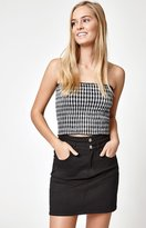 John Galt Gingham Smocked Tube Top