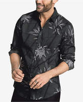 INC International Concepts Men's Geometric Foliage Cotton Shirt, Created for Macy's