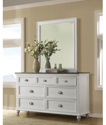 Gracie Oaks Risner 7 Drawer Dresser With Mirror Shopstyle