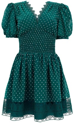 Self-Portrait Polka-Dot Mini Dress