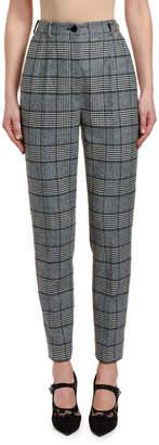 Dolce & Gabbana High-Waist Cropped Prince of Wales Plaid Pants