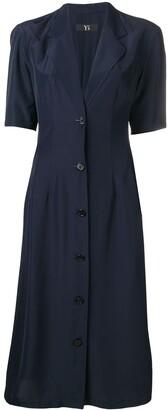 Yohji Yamamoto Pre-Owned pleated midi dress