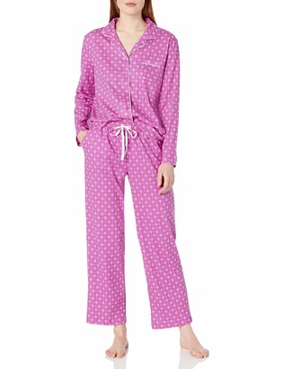 Karen Neuburger Women's Pajama Long Sleeve Print Girlfriend Pj Set