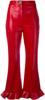 Awake cropped flared trousers
