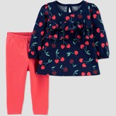 Carter's Just One You Made By Baby Girls' Cherry Tunic Top & Bottom Set - Just One You® made by Red/Navy