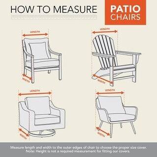 "Modern Leisure Chalet Outdoor Patio Chair Cover, 27"" W x 34"" D x 31"" H, Beige"