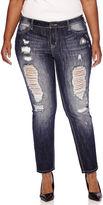 Z2 Soundgirl Destructed Skinny Jeans - Juniors Plus