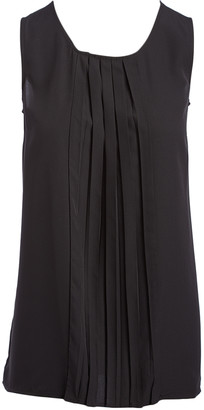 Très Jolie Women's Blouses Black - Black Pleat-Front Shell - Women