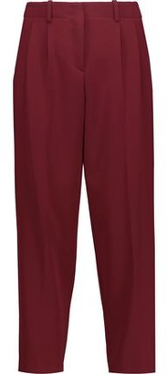 Theory Straconi Cropped Crepe Straight-leg Pants