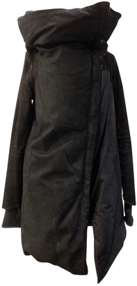 Isaac Sellam Black Leather Coat for Women