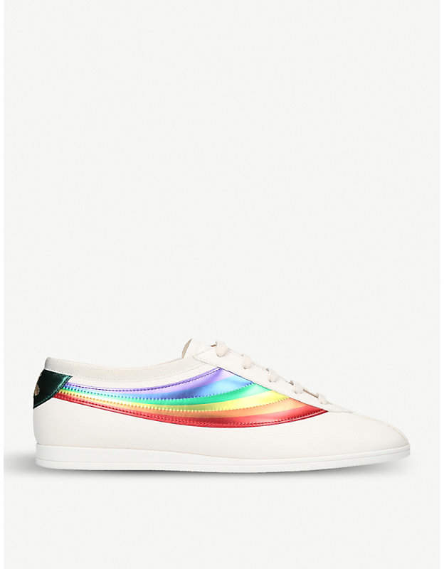 Gucci Competition Rainbow leather low-top trainers