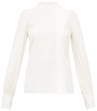 Goat Ilesia Panelled Silk Blouse - White