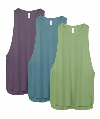 icyzone Lightweight Workout Tank Tops for Women - Athletic Shirts Loose Fit Running Racerback Tops Gym Yoga Tank(Pack of 3) (M
