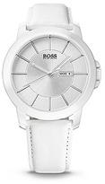 HUGO BOSS 1512905 White Leather Strap Quartz Watch - Assorted Pre-Pack